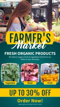 Farmer's market multi-video ads Digitale display (9:16) template