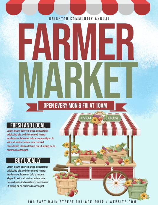 farmer market Flyer (Letter pang-US) template