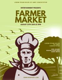 farmer market event flyer template