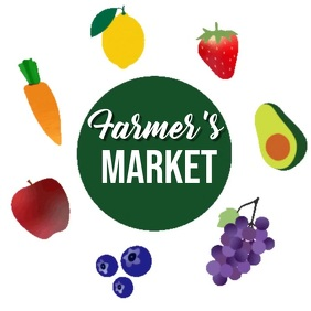 farmer market logo ad SOCIAL MEDIA TEMPLATE Square (1:1)
