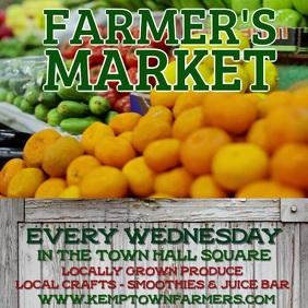 Farmers Market Announcement Video Template