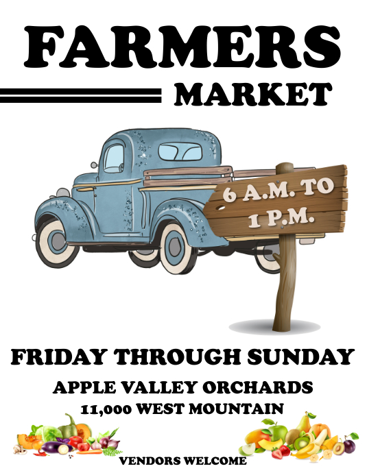 FARMERS MARKET Flyer (Letter pang-US) template
