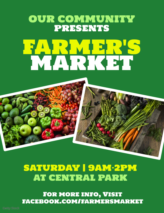 Farmers market Flyer (US-Letter) template