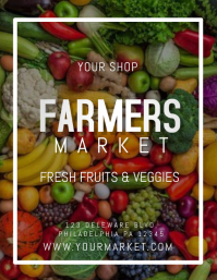 farmers market Pamflet (Letter AS) template