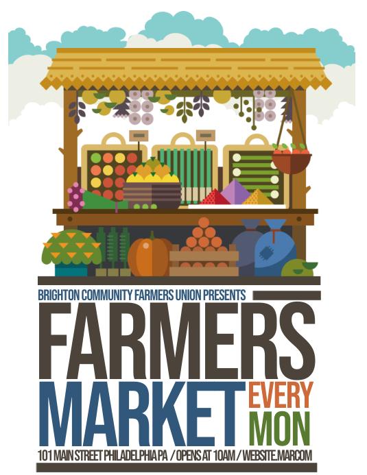 farmers market Folder (US Letter) template