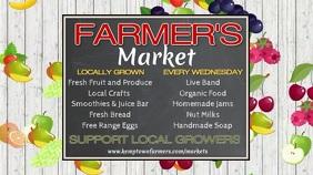 Farmers Market Digital Template Affichage numérique (16:9)
