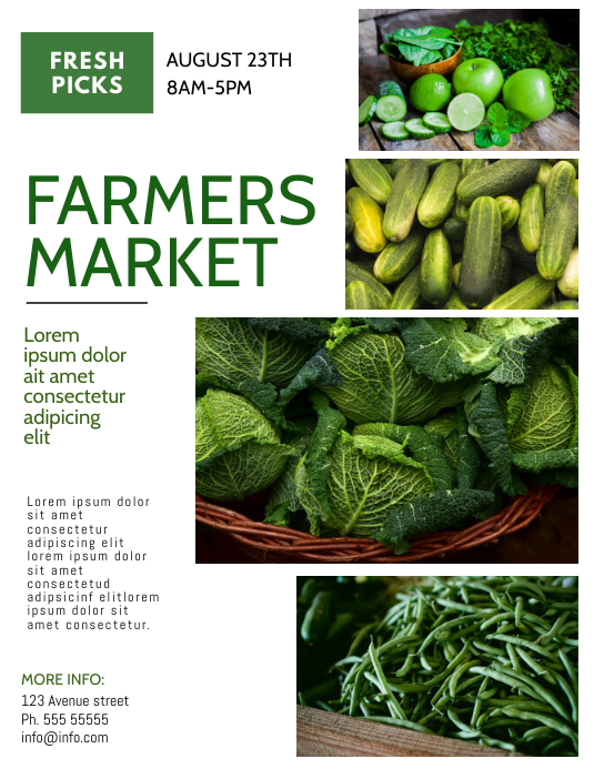 farmers market event flyer template