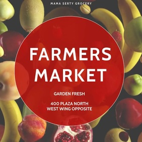FARMERS MARKET GROCERY POSTER VIDEO