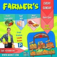farmers market insta video Square (1:1) template