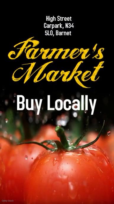 Farmers Market Instagram Post Digitalt display (9:16) template