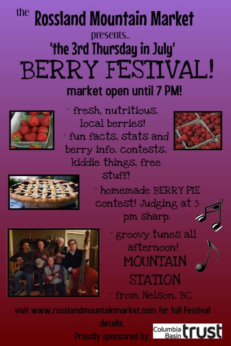 Farmer's Market Music Festival Poster template
