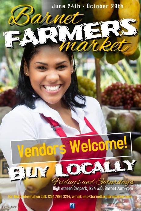Farmers Market Poster Plakat template