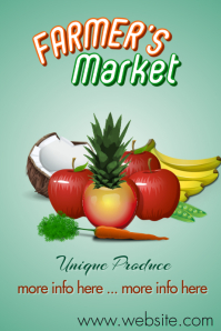 Farmers Market Poster 海报 template