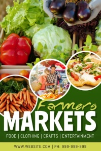 Farmers Markets Video Poster Affiche template