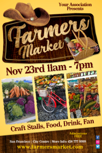 Farmers Vegetable Market Poster