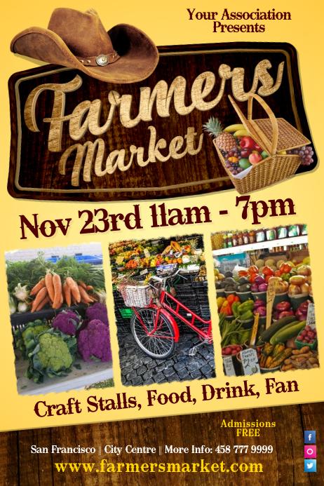 Farmers Vegetable Market Poster