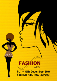 Fashion, cover flyer poster