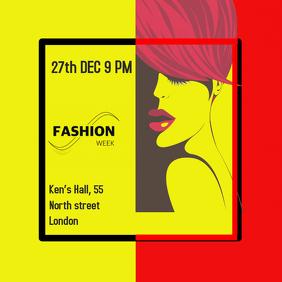 Fashion, event, instagram, social media, square design