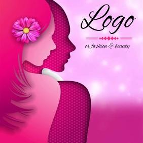 fashion & beauty logo SOCIAL MEDIA TEMPLATE โลโก้