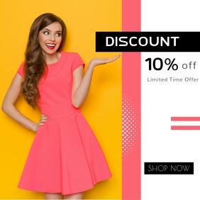Fashion & Lifestyle Online Offers & Discount Publicación de Instagram template