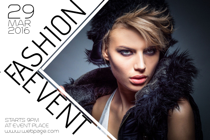 Lovely Fashion Beauty Event Poster Template Landscape Within Fashion Poster Design