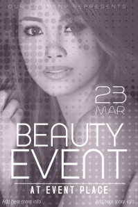 fashion beauty event poster template