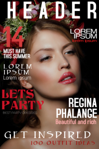fashion beauty magazine cover template