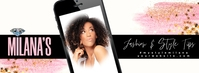 Fashion Blogger Social Media Banner Facebook Cover Photo template