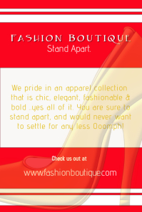Fashion Boutique Poster/Flyer template