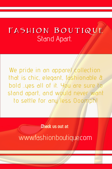 Fashion Boutique Poster Flyer Template PosterMyWall