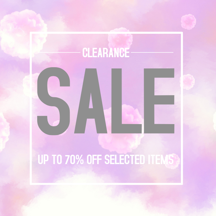 6b217cd6f33 FAshion Clearance Sale Instagram poster Template