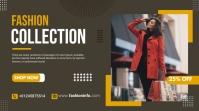 fashion cloth sale flyer Digitalanzeige (16:9) template