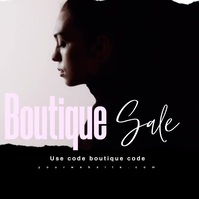 Fashion Sale Video Ad Yellow Black template