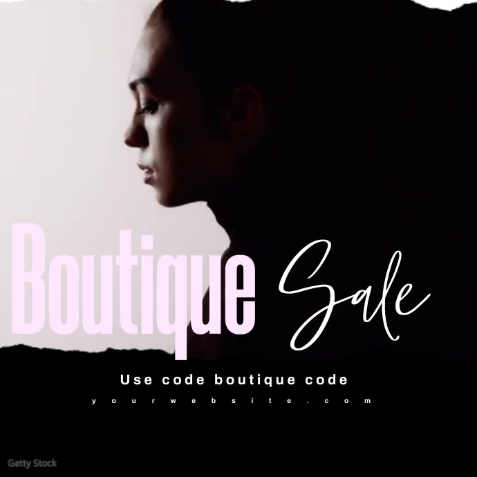Fashion Sale Video Ad Yellow Black Instagram na Post template