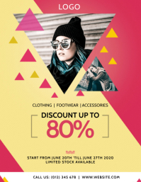 FASHION CLOTHING SALE OFFER Flyer Template