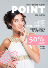 Fashion Clothing Store Magazine Ad A4 template