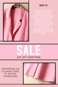 fashion clothing store sale promotion flyer pink template