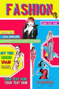 Fashion design template poster