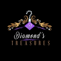 Fashion Diamonds Logo Logotipo template