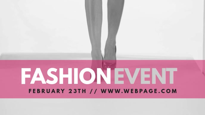 Fashion Event Facebook Video Cover Template