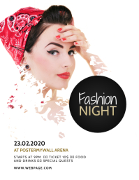 Fashion Event Flyer Design Template
