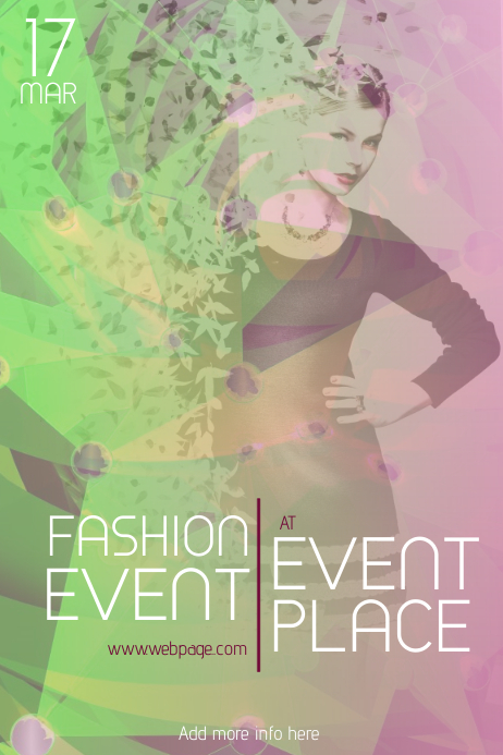 fashion event poster template