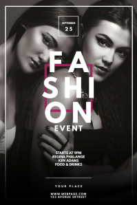 Fashion event flyer template Poster