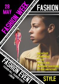 Fashion event show flyer poster