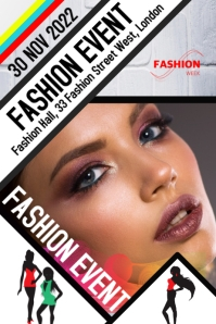 Fashion event show flyer poster template