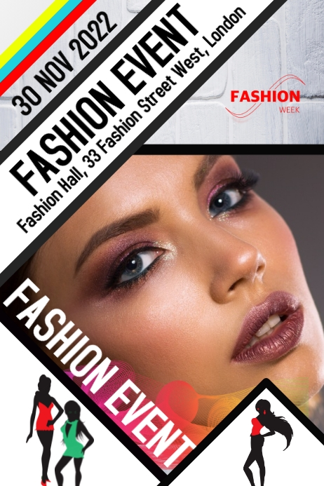 Fashion event show flyer poster Cartaz template