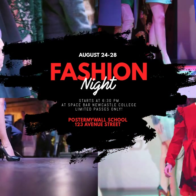 fashion Event Video ad template Quadrato (1:1)