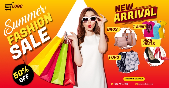 Fashion Facebook group cover photo template