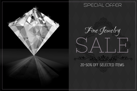 fashion fine jewelry sale landscape poster template