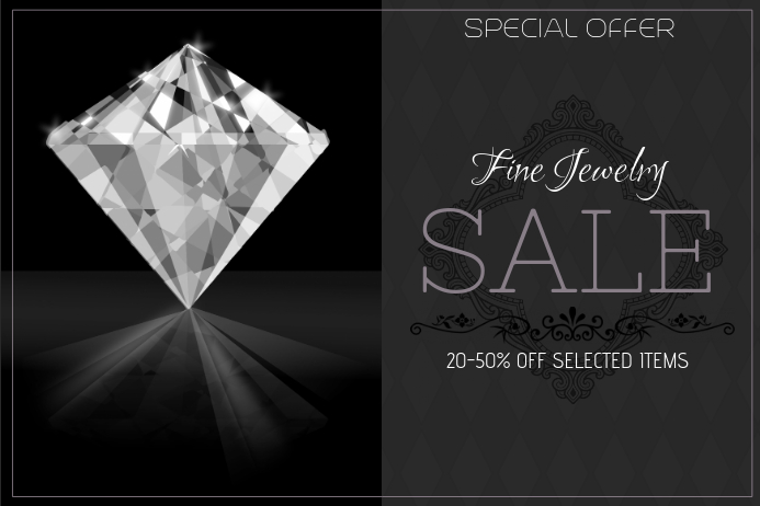 copy of fashion fine jewelry sale landscape poster